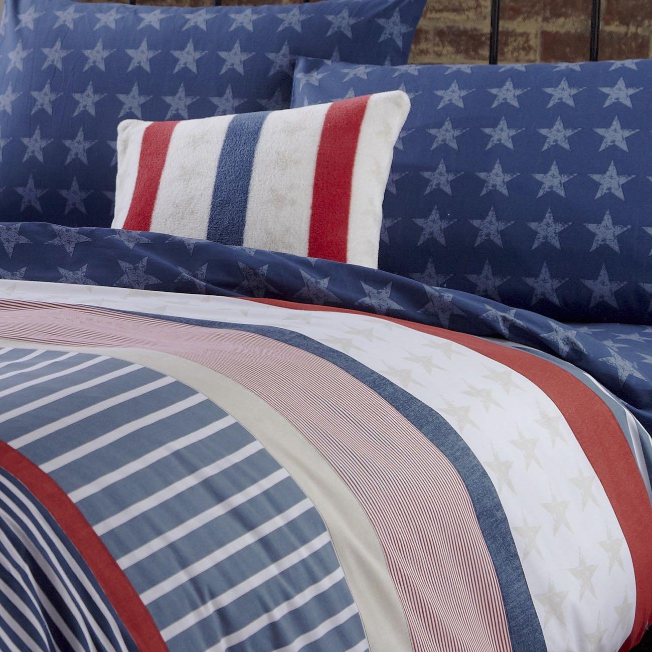 Capa de Edredão Azul Stars & Stripes