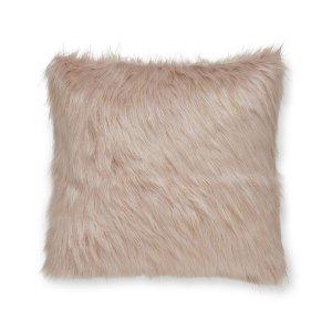 Metallic Fur Capa de Almofada Rosa Catherine Lansfield
