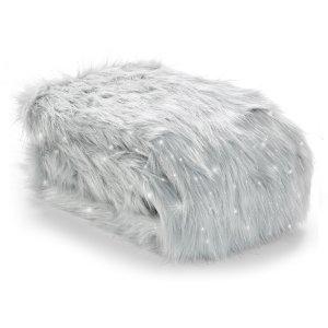 Metallic Fur Manta Prata Catherine Lansfield