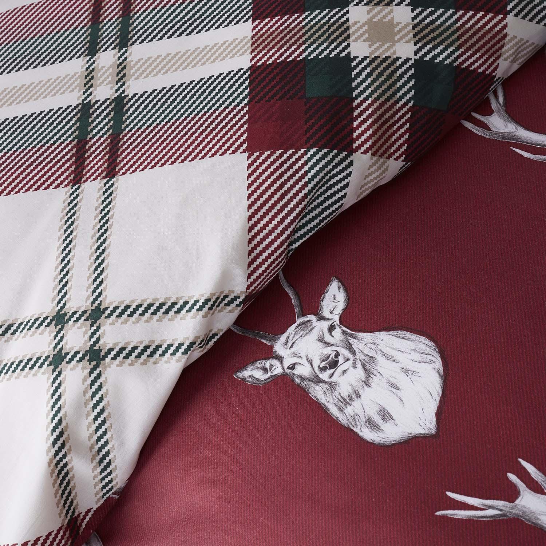 Capa de Edredão Vermelha Munro Stag