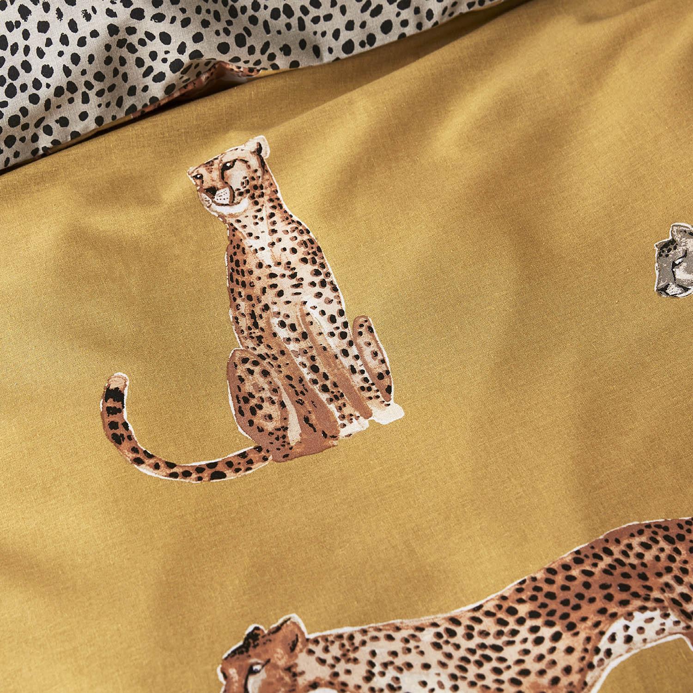 Capa de Edredão Amarela Cheetah