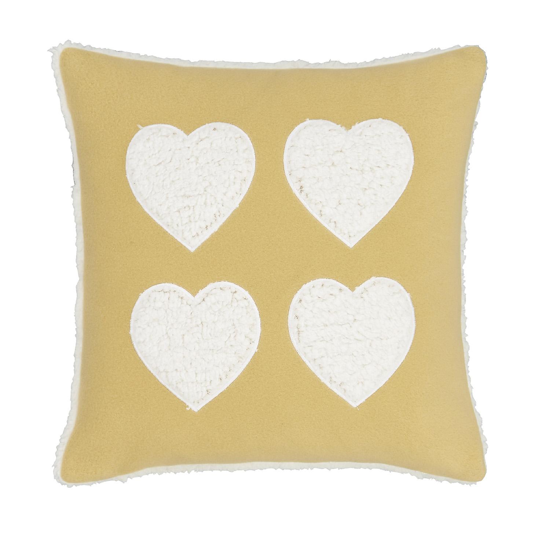 Cosy Heart Cushion Ochre