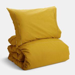 Capa de Edredão Algodão Amarela