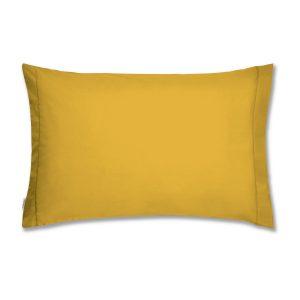 Fronha de Almofada Algodão Amarela