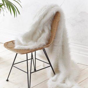 Metallic Fur Branco Catherine Lansfield
